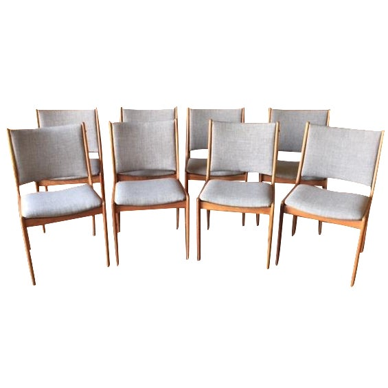 Danish Modern High-Back Chairs - Set of 8 - Image 1 of 9