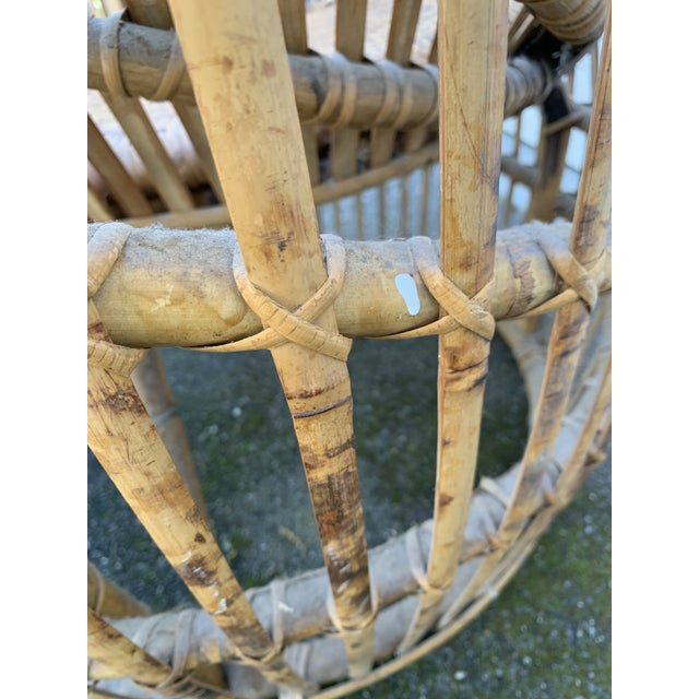 Franco Abini Style Rattan Bamboo Chair For Sale - Image 10 of 13