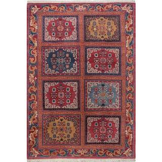 Contemporary Handwoven Tibetan Area Rug - 6.4x8.10 For Sale