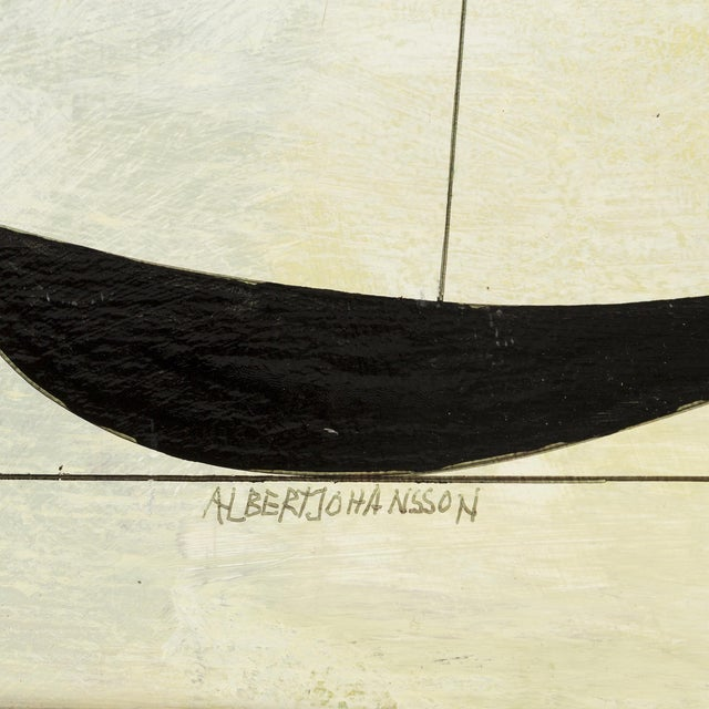 Albert Johansson, Mixed-Media on Canvas, Sweden, 1983 For Sale - Image 4 of 5