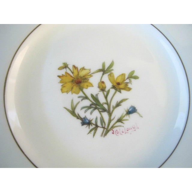 Minton Early 20th Century Minton Blue Gilt Painted Plates Signed Colclough Fox - Set of 12 For Sale - Image 4 of 10