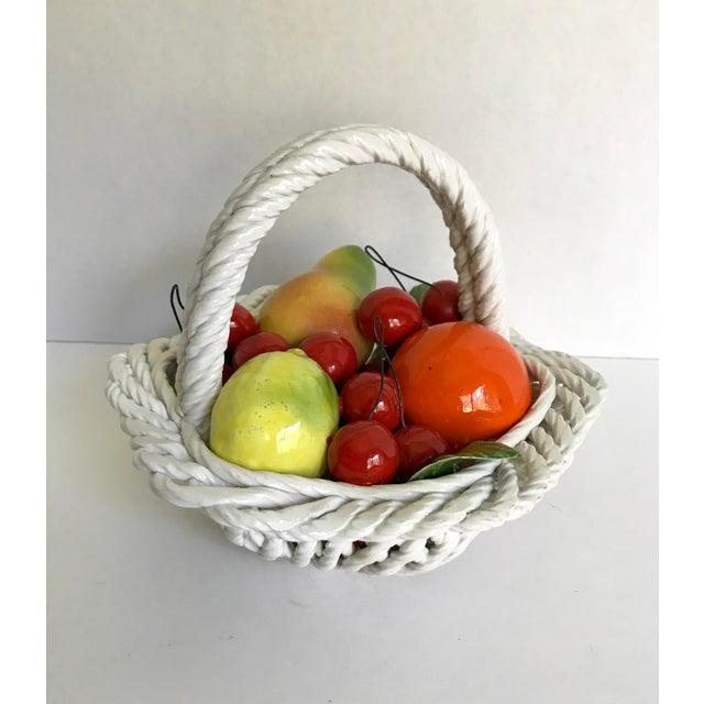 Mid 20th Century 20th Century Italian Porcelain Fruit Basket For Sale - Image 5 of 5