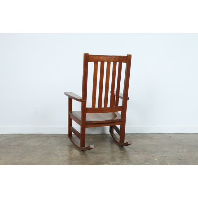 Stickley Oak Rocking Chair - Image 7 of 11
