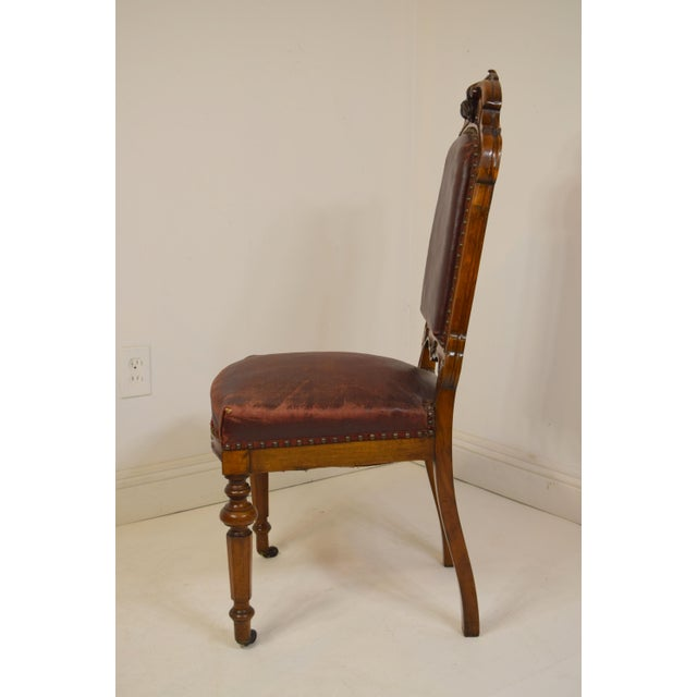 Mid 19th-Century Walnut Dining Chairs-Set of Six (6) For Sale - Image 4 of 12