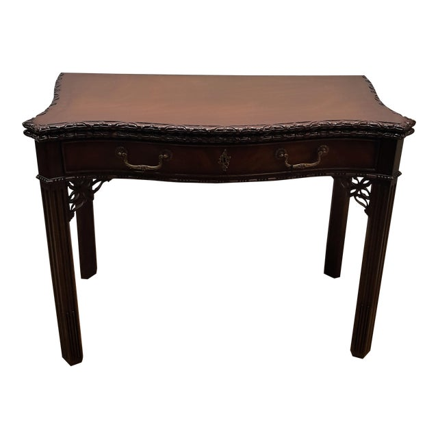 Maitland Smith Mahogany Flip Top Game Table For Sale