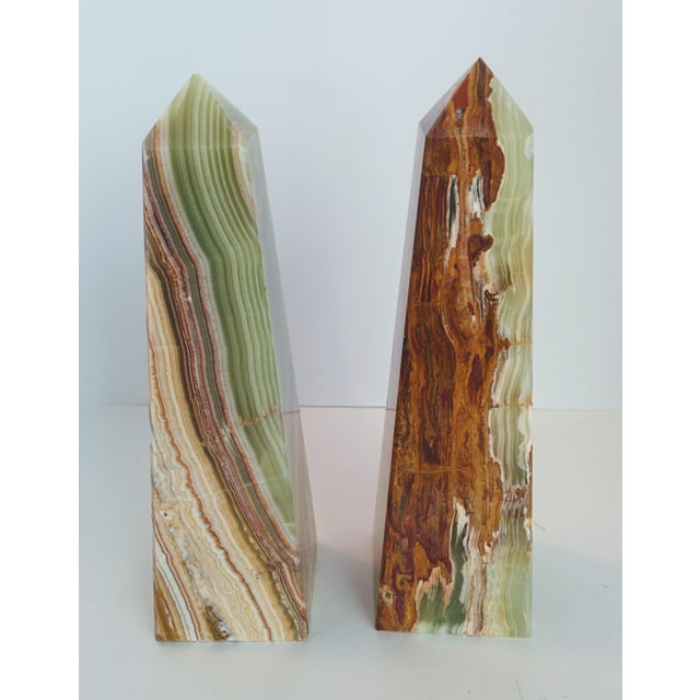 Modern Onyx Obelisks - A Pair - Image 8 of 10