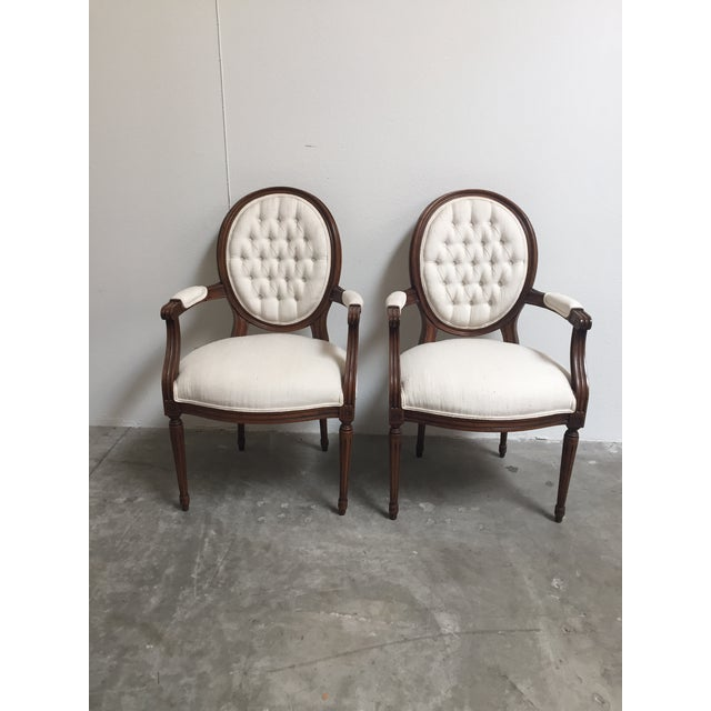 Louis XVI Style Dining Chairs- Set of 6 - Image 10 of 11