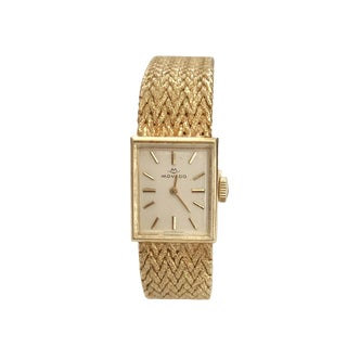 Vintage 14k Gold Movado Women's Watch Bracelet For Sale