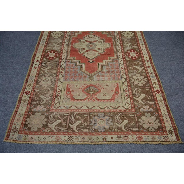 Islamic Turkish Vintage Oriental & Decorative Rug, 3'2″x5'3″ For Sale - Image 3 of 9