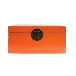 Chinese Orange Rectangular Shape Container Box For Sale