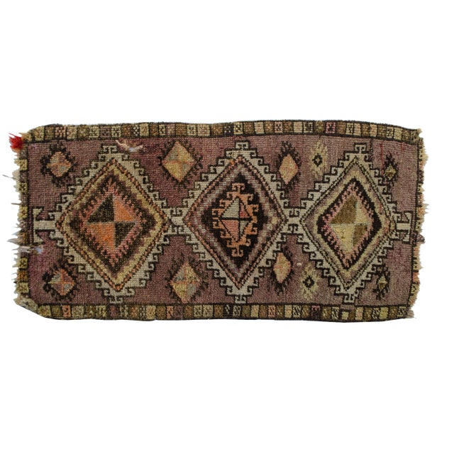 "Antique Turkish Oushak Mat - 1'5""x2'11"" - Image 1 of 6"