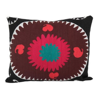 """Suzani Embroidery Pillow 20"""" X 24"""" For Sale"""
