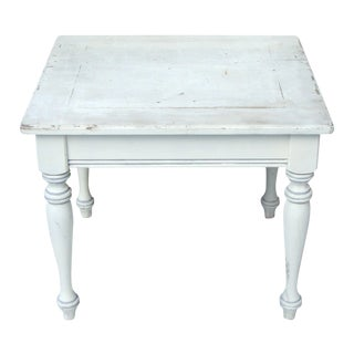 Vintage French Farmhouse Distressed Wood Table For Sale