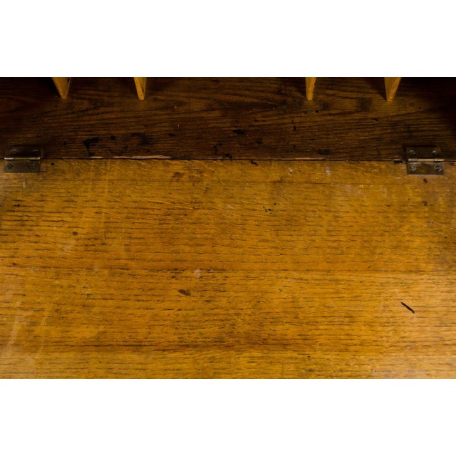 Late 19th Century 19th Century English Traditional Stand-Up Desk Bookshelf For Sale - Image 5 of 13