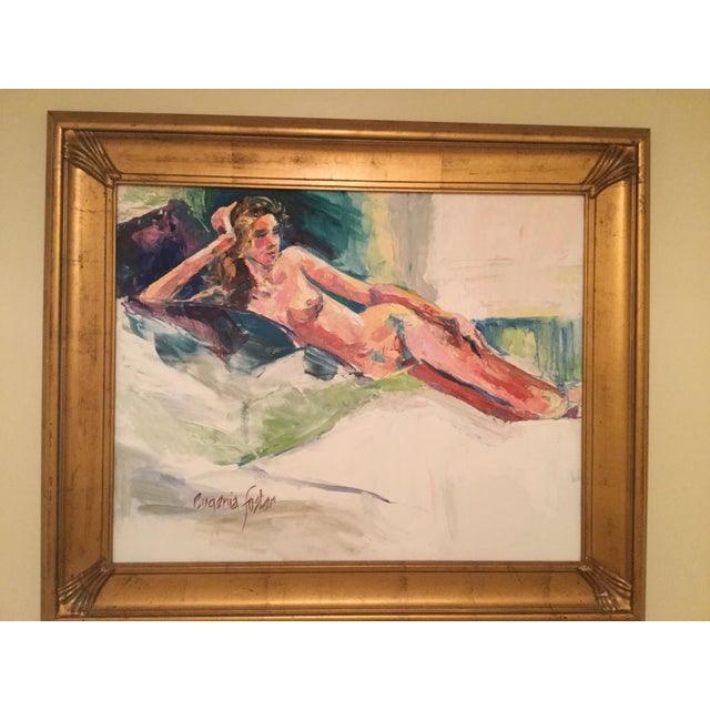 Beautiful vibrant colors pop on this Eugenia Foster nude painting! She is a talented artist from Mobile Alabama that has...