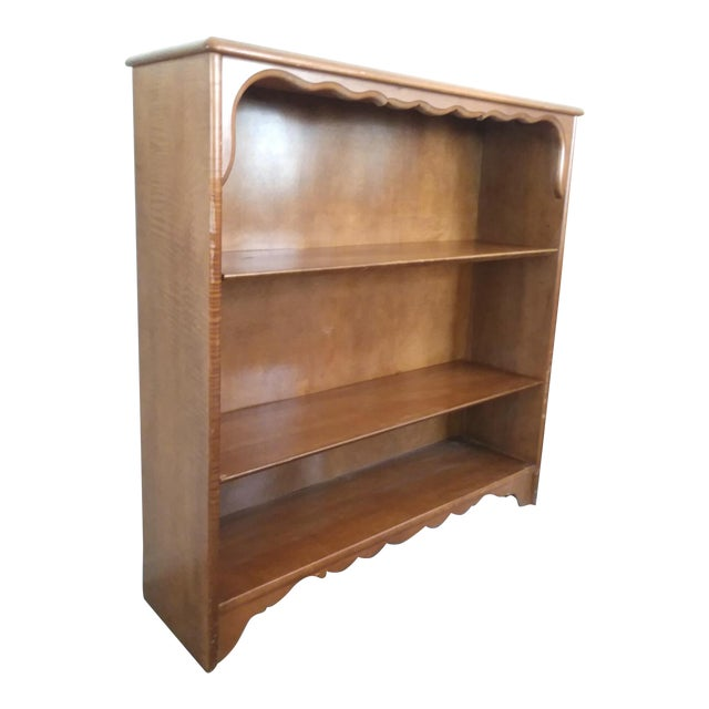 newest 028f4 03de9 20th Century Traditional Hard Rock Maple Bookcase Bookshelf Display Cabinet