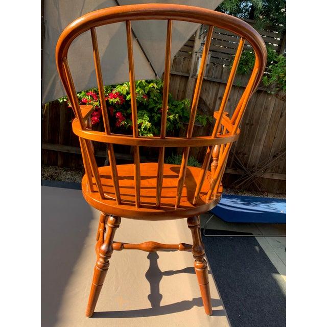 Wood 1950s Vintage Original Leopold Stickley Rockport Windsor Armchair For Sale - Image 7 of 13