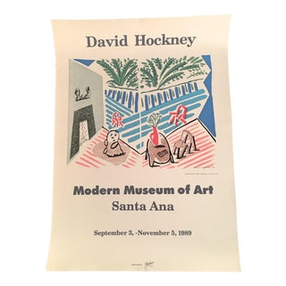 David Hockney 1989 Modern Museum of Art Santa Anna Exhibition Lithograph/Poster