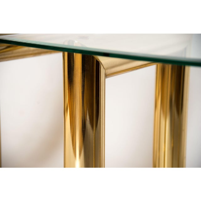 """Brass """"Z"""" Shaped End Tables - A Pair - Image 7 of 7"""