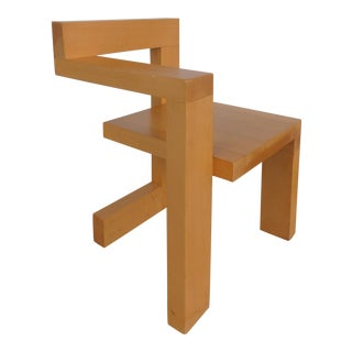 Sculptural Modern Constructivist Chair Custom Made After Gerrit Rietveld
