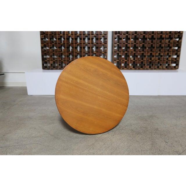 T.H. Robsjohn-Gibbings Mid-Century Modern t.h. Robsjohn-Gibbings for Widdicomb Walnut Side Table For Sale - Image 4 of 8