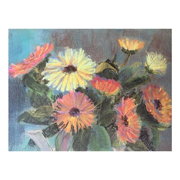 Impressionism Pastel Floral Still Life by Eleanor De Haas For Sale - Image 3 of 4