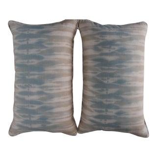 Kravet Fabric Lumbar Pillows - A Pair For Sale