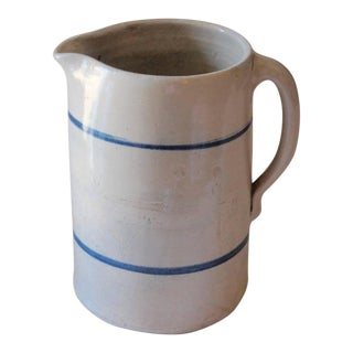 19th Century Handmade Stoneware Pitcher For Sale