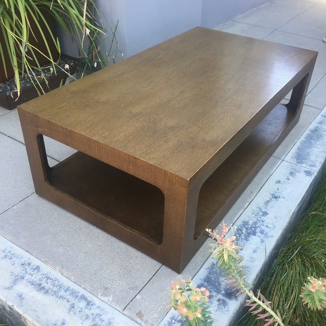 Modern Brown Coffee Table - Image 3 of 7
