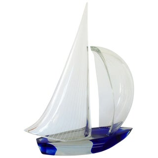 1980s Vintage Murano Sailboat by Alberto Doná For Sale