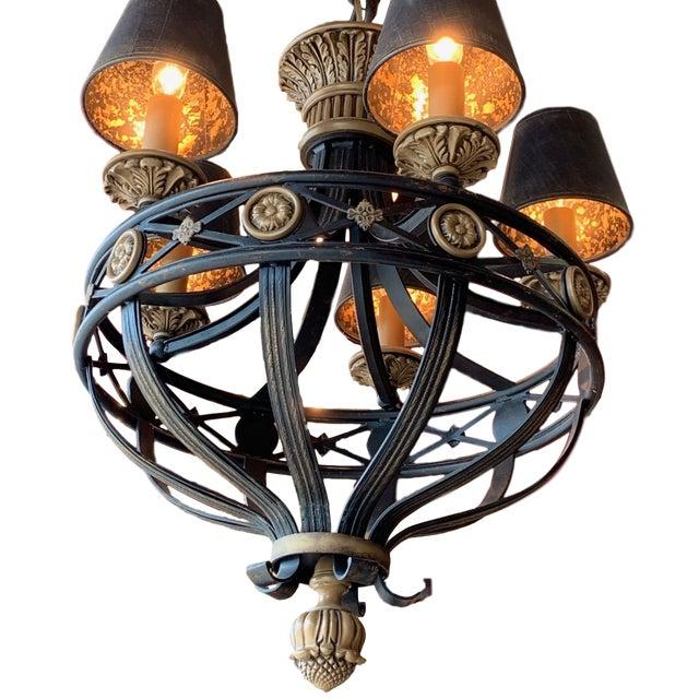Renaissance Fine Art Lighting Chandelier Bronze & Gold 5 Lights For Sale - Image 3 of 13
