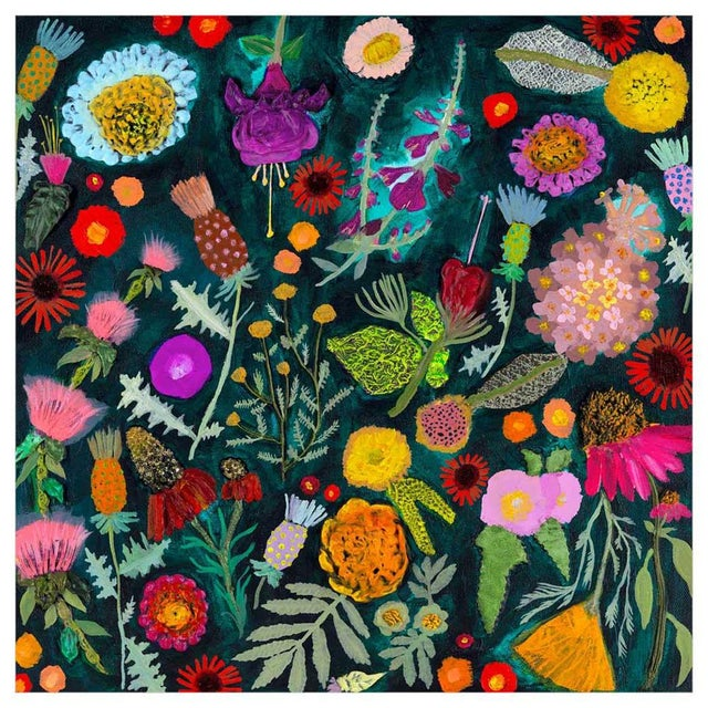 Flower lovers will adore Eli Halpin's rainbow assortment of little buds and blossoms in this magnificent floral...
