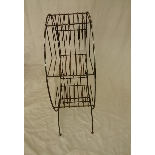 Mid Century Modern Wire Plant Stand Shelf - Image 7 of 8