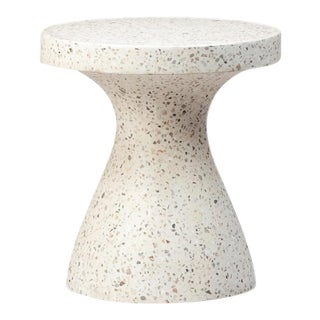 Light Terrazzo Hourglass Side Table For Sale