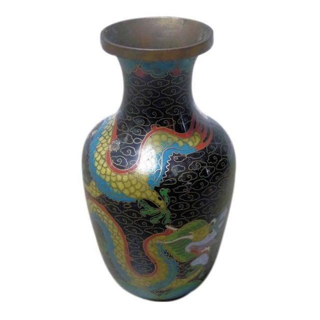 Black Dragon Cloisonne Vase - Image 1 of 4