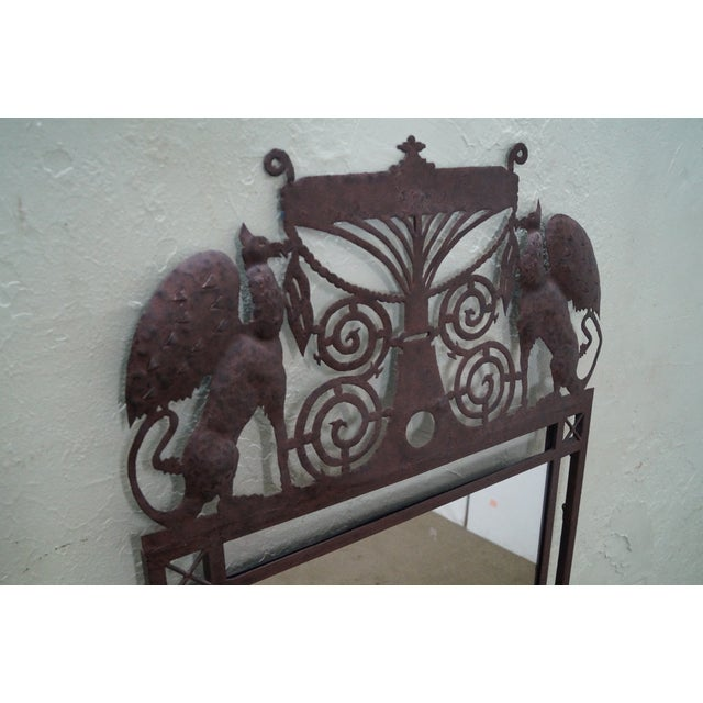 Medieval Gothic Custom Iron Frame Wall Mirror - Image 4 of 10