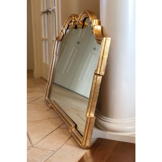 La Barge 1960s Vintage La Barge Italian Hollywood Regency Gold Gilt Mirror For Sale - Image 4 of 9