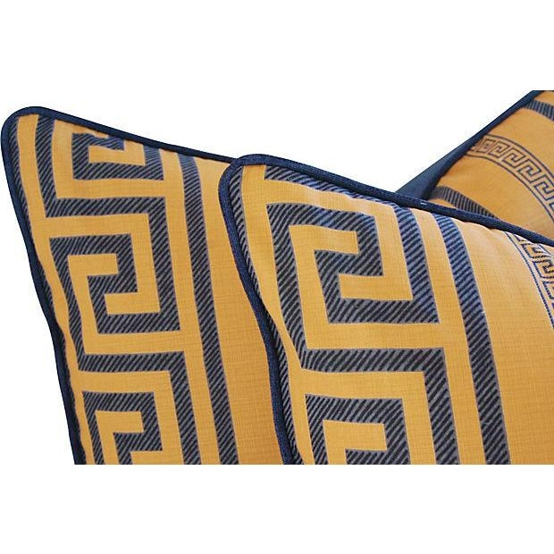 Designer Pierre Frey Greek Key Pillows - a Pair - Image 4 of 8