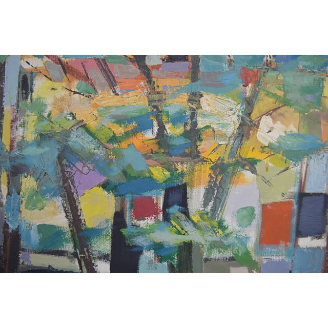 Abstract Mid 20th Century Abstract Expressionist Painting by Armando Del Cimmuto For Sale - Image 3 of 13
