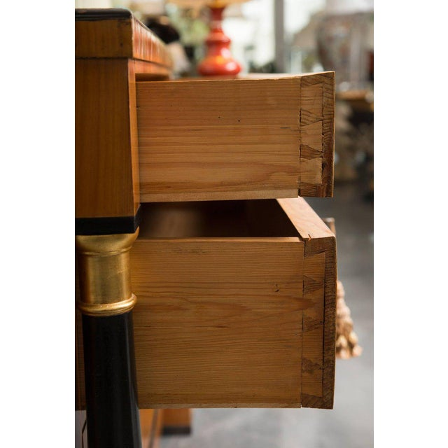 Mid 19th Century 19th Century German Biedermeier Cherrywood Chest of Drawers For Sale - Image 5 of 9