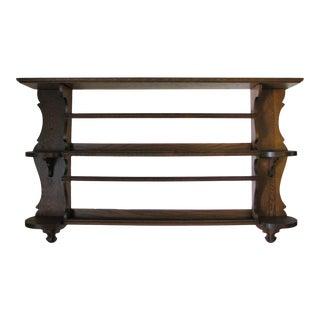 1920s Edwardian Oak Shelf For Sale