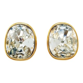 Classic Crystal Statement Earrings by Kenneth Jay Lane For Sale