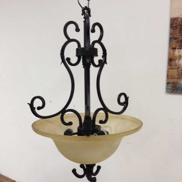 Oil Rubbed Bronze Dome Chandelier - Image 2 of 8
