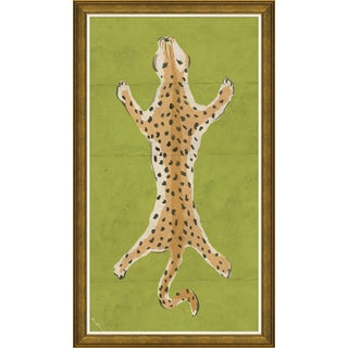 """Leopard Series - Green"" By Dana Gibson, Framed Art Print"