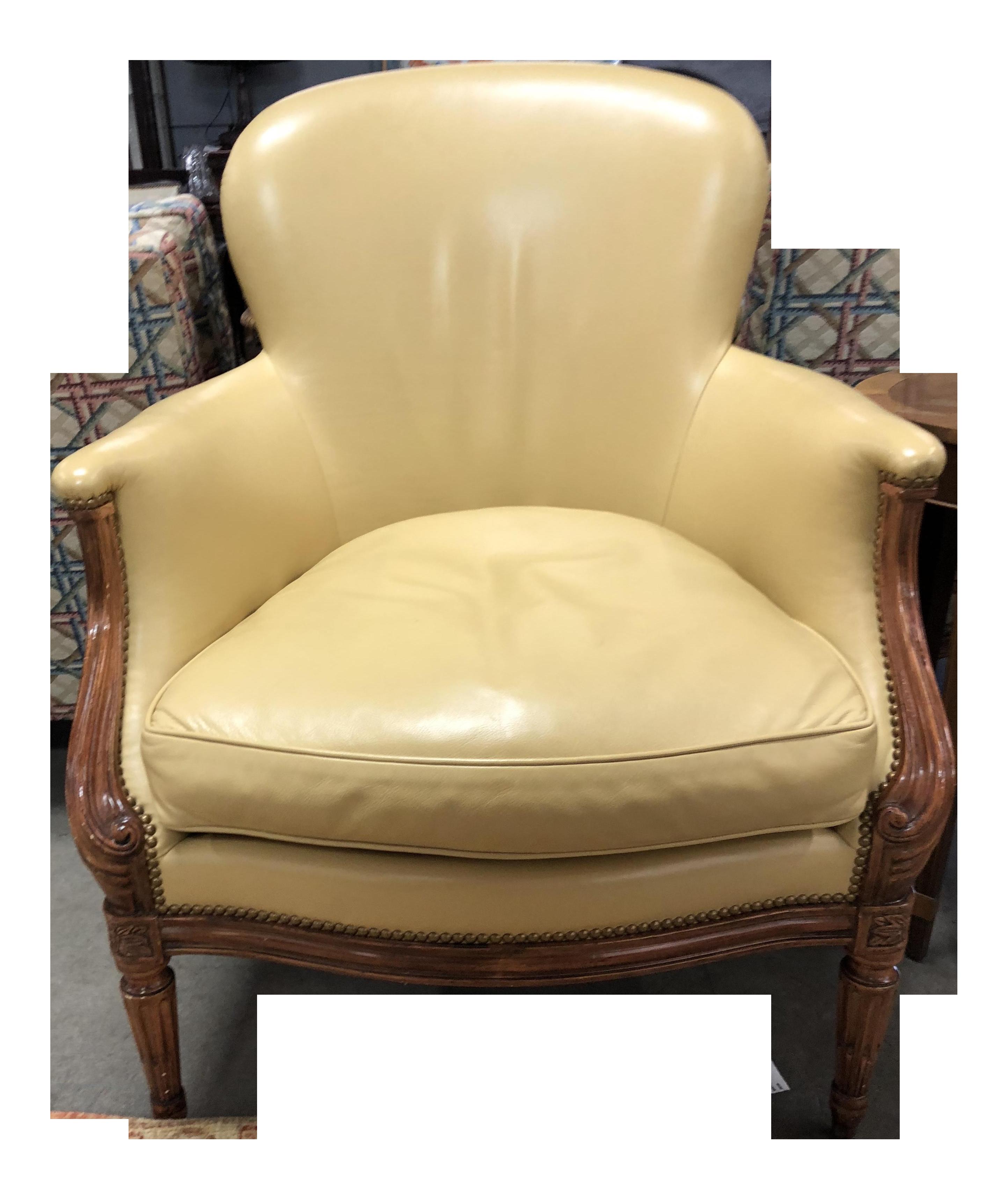Dennis U0026 Leen Louis XVI Leather Library Chair