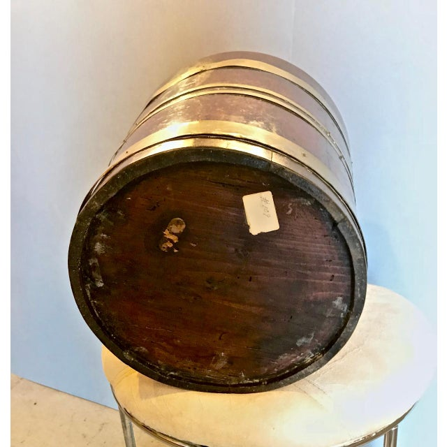 Early 19th Century 19th C. English Mahogany Brass-Bound Peat Bucket For Sale - Image 5 of 6