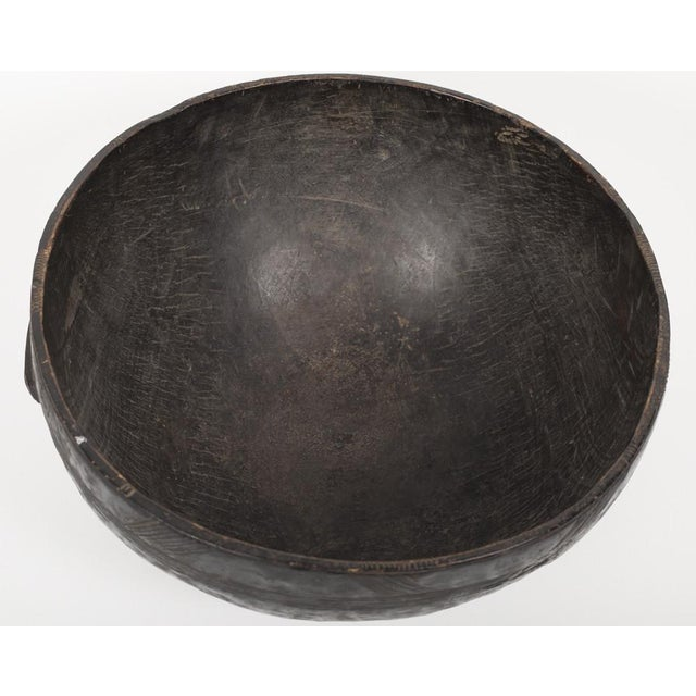 Wood A 19th Century Carved Wood Food Bowl From Chad For Sale - Image 7 of 9