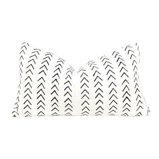 Mini Arrows Ivory Mudcloth Lumbar Pillow For Sale