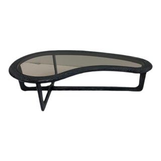 1950's Vintage Lane Boomerang Shape Cerused Coffee Table For Sale