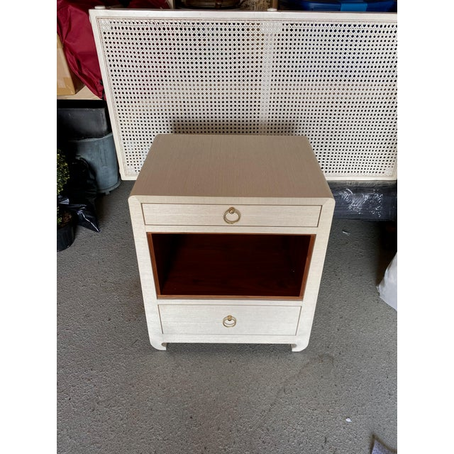 Metal Bungalow 5 Ming White 2 Drawer Nighstand For Sale - Image 7 of 11